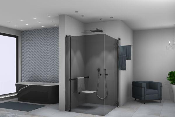 """Das fugenlose Bad für Generationen ist nicht nur Trend, sondern zudem sauberer, hygienischer – und bestechend minimalistisch, wie PALME mit der Echtglas-Dusche """"Tube"""" zeigt."""