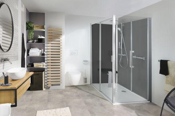 Mit Roth Vinata ist der Austausch einer Badewanne gegen eine komfortable Dusche innerhalb kürzester Zeit möglich.