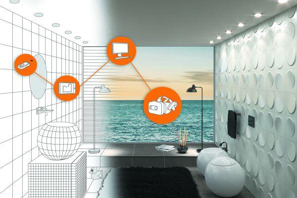 Neueste Technologien und smarte Lösungen ermöglichen das nahtlose Planen, Bearbeiten und präsentieren neuer Badezimmerprojekte.