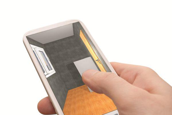 Mit der ViSoft-App für Tablets und Smartphones kann die erste Planung mit den ersten Gestaltungsideen auch auf der Baustelle stattfinden.