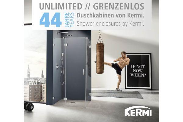 Kermi feiert 44-jähriges Duschkabinenjubiläum