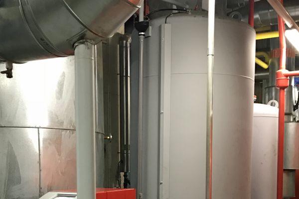 """Die """"SpiroPress""""-Ausführung als Doppelpumpensystem garantiert eine hohe Betriebssicherheit, wobei zwei Expansionsgefäße für den Bereich Heizung zum Einsatz kommen."""