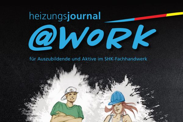 Cover der @work-Ausgabe zum Thema Brennwerttechnik.