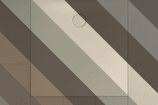 Das Bild zeigt eine Duschfläche in unterschiedlichen Farbkombinationen.