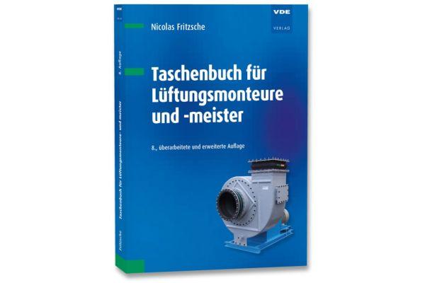 Cover der 8. Auflage des Taschenbuchs für Lüftungsmonteure und -meister.