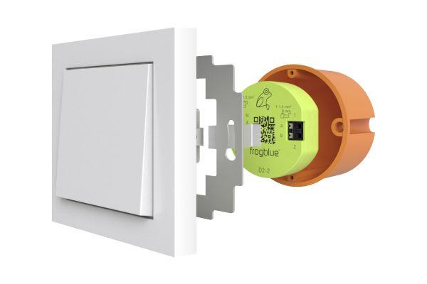 """frogblue aus Kaiserslautern bietet """"Bluetooth""""- basierte Smart Home Lösungen: Das System fußt auf intelligenten Steuermodulen, den """"frogs"""", die direkt in Unterputzdosen  hinter den Lichtschaltern verbaut werden."""