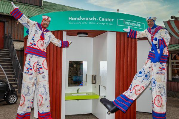 Das Bild zeigt das neue Hansgrohe-Handwasch-Center.