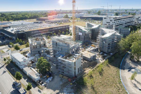 Baustelle des Adlershof in Berlin.