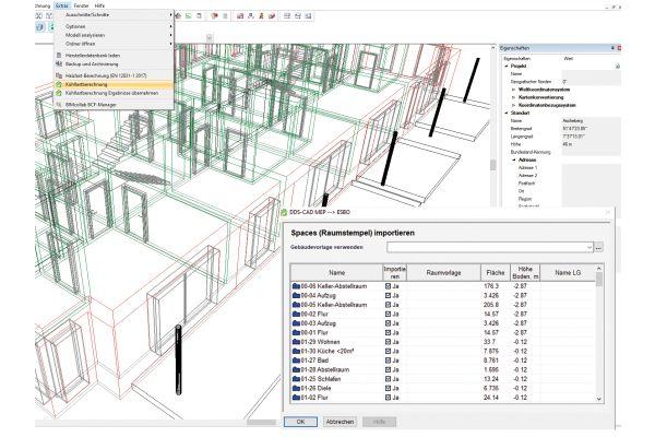 Screenshot aus der Software