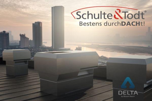 Zu- und Ablufthaube fürs Dach in einem System