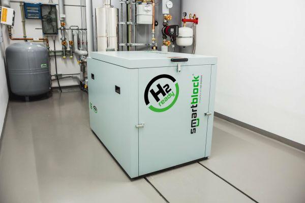 """""""smartblock"""" BHKW von KW Energie sind ab sofort H2-ready"""