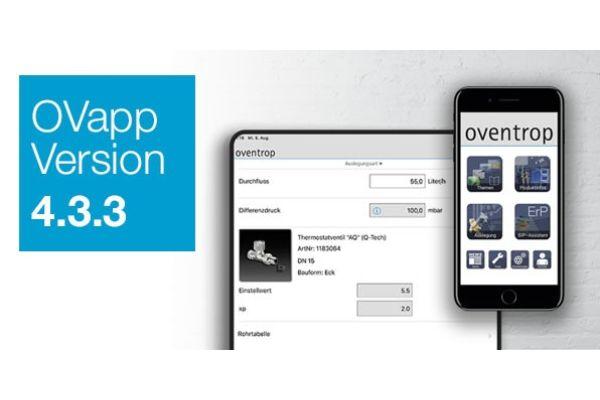 Das Bild zeigt ein Handy mit der Oventrop-App.