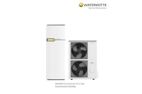 Eine Luft/Wasser-Wärmepumpe Ecotouch Ai1 Air LC Split.