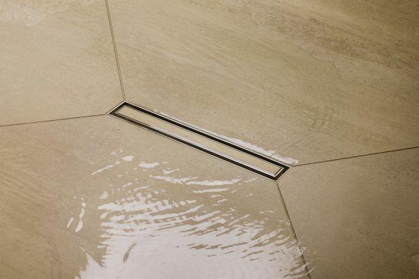 Das Bild zeigt die Duschrinne.
