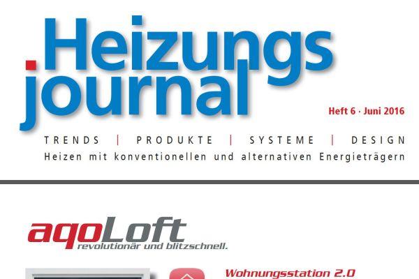HeizungsJournal – Heft 6, Juni 2016 HeizungsJournal – Heft 6/2016