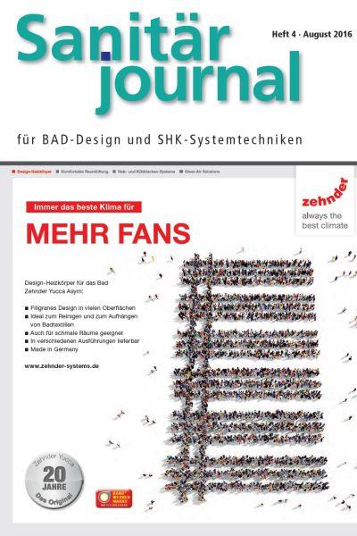 SanitärJournal – Heft 4, August 2016 SanitärJournal – Heft 4/2016