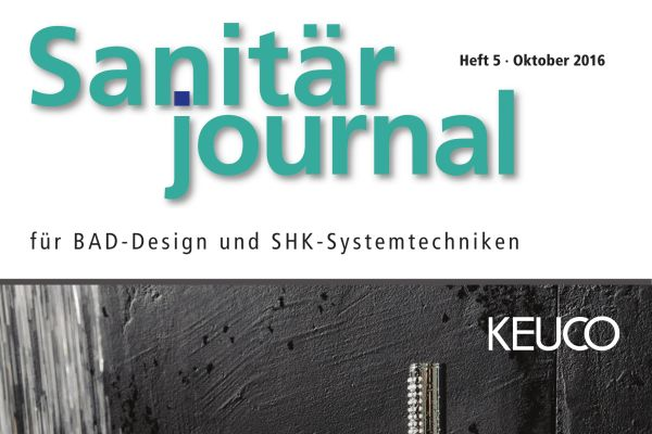 SanitärJournal - Heft 5, Oktober 2016 SanitärJournal - Heft 5/2016