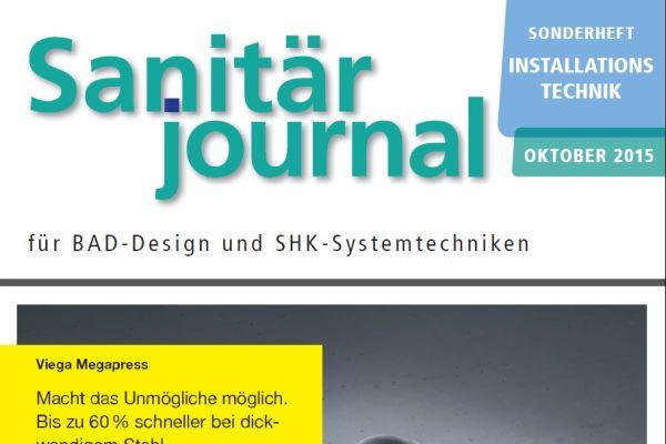 Sonderheft Installationstechnik Sanitär 2015 Sonderheft 2015