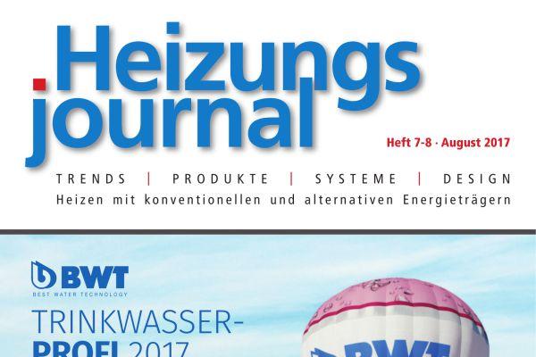 HeizungsJournal - Heft 7-8, August 2017 HeizungsJournal - Heft 7-8/2017