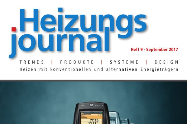 HeizungsJournal - Heft 9, September 2017 HeizungsJournal - Heft 9/2017
