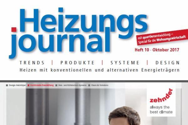HeizungsJournal - Heft 10, Oktober 2017 HeizungsJournal - Heft 10/2017