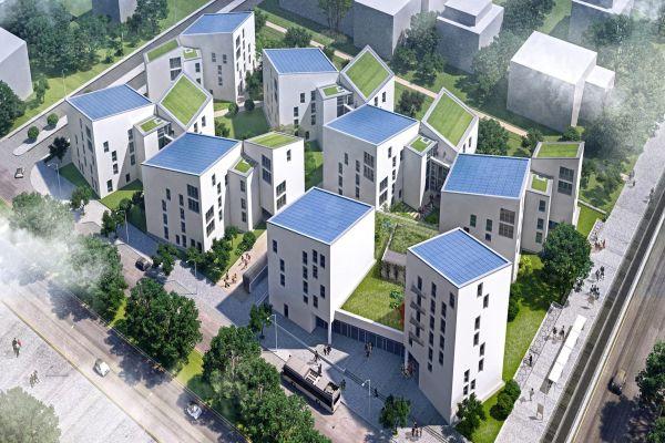 """""""Future Living"""" Berlin – das Projekt in der Vogelperspektive."""