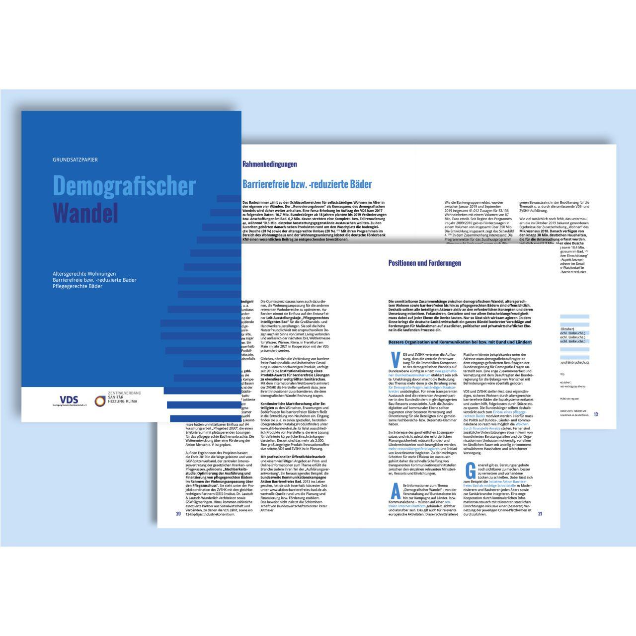 Neues Grundsatzpapier zum Demografischen Wandel