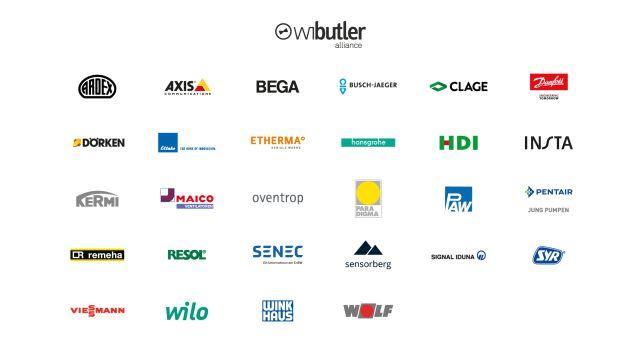 Mehrere Logos von verschiedenen Unternehmen.