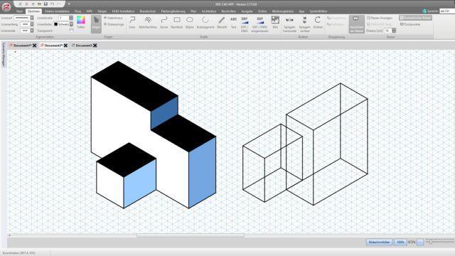 Screenshot aus der Software Red CAD.