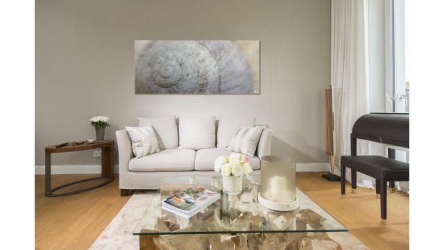 Eine Bildheizung in einem Wohnzimmer.