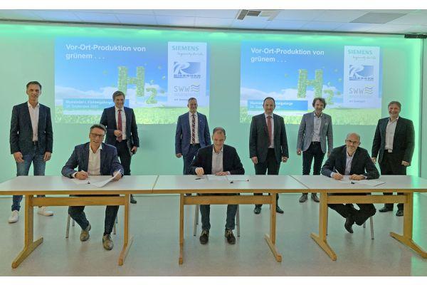 Siemens baut CO2-freie Wasserstofferzeugungsanlage