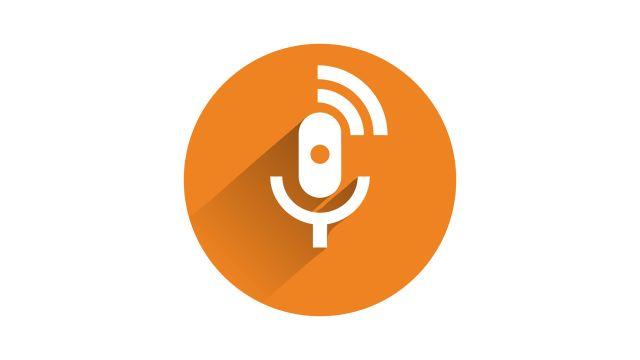 Icon eines Mikrofons mit Schallwellen.