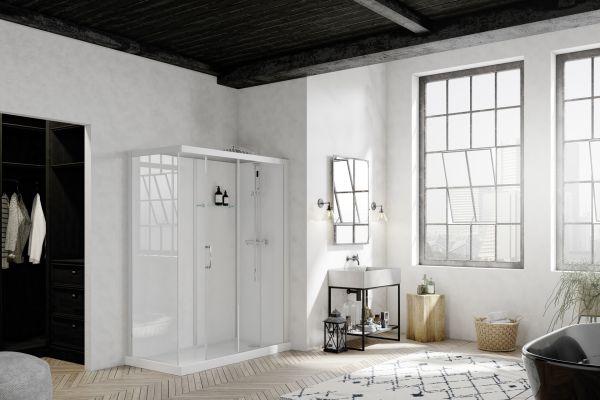 Komplett-Duschkabine für Renovierungen und Wohnraumerweiterung