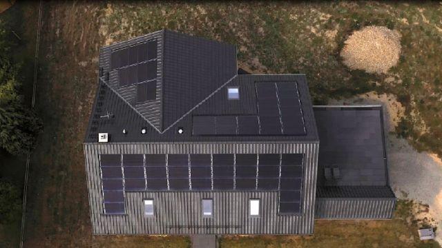 Ein Haus von oben.