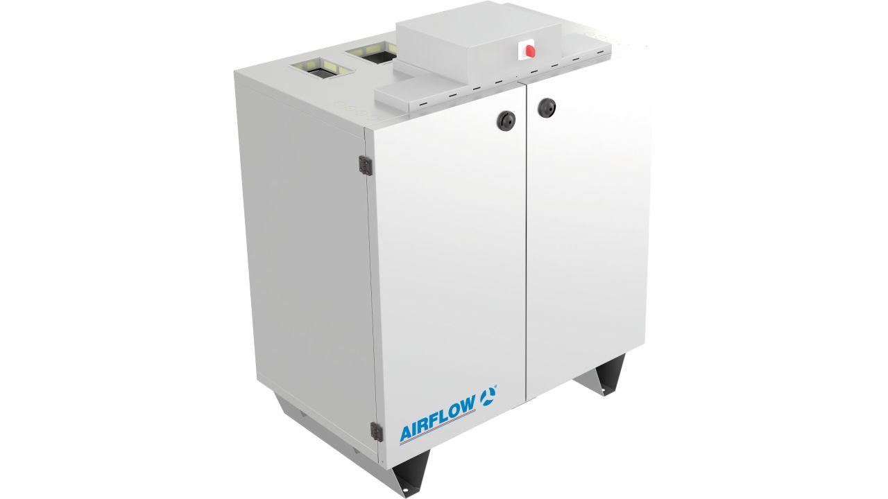 Platzsparende Lüftungsgeräte-Serie optimal für enge Einbausituationen