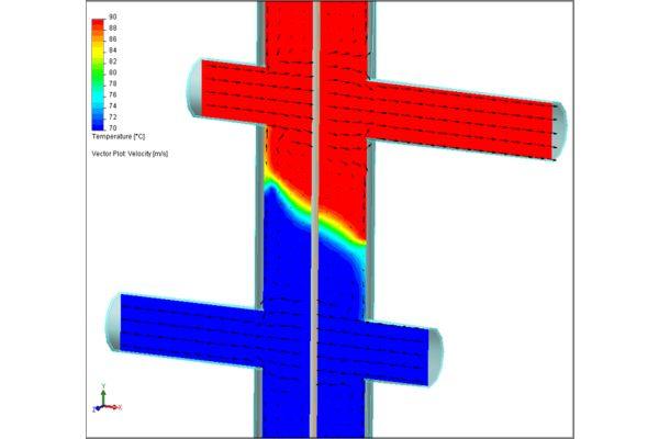 Die ausgefeilte Konstruktion bewirkt eine zuverlässige Temperaturschichtung.