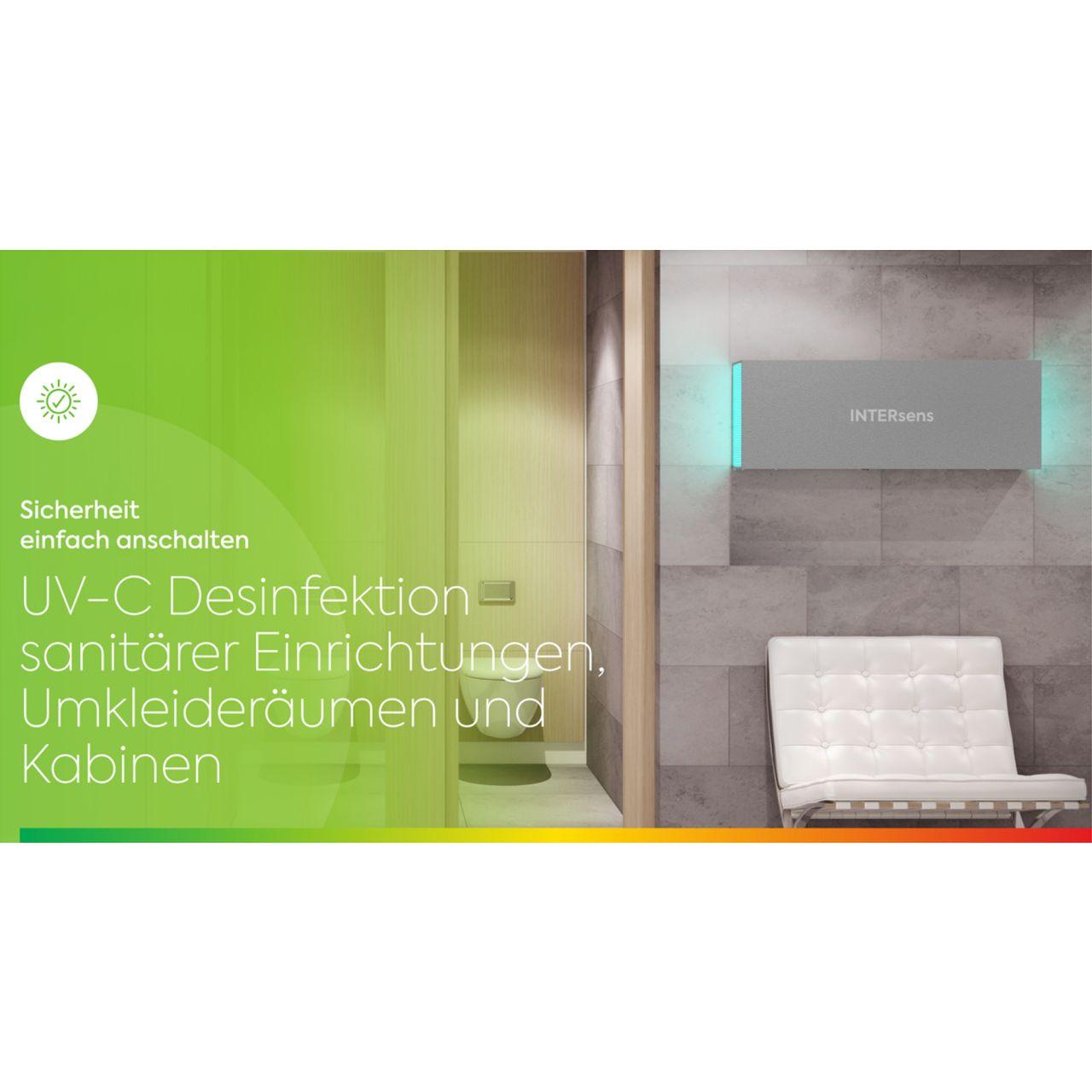 Desinfektion sanitärer Einrichtungen mit UV-C