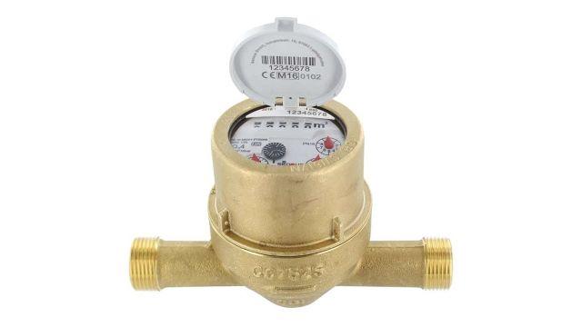 Das Bild zeigt einen Wassermengenzähler