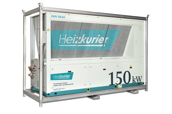Mobile Kühlanlagen, im Bild: ein 150-kW-Kaltwassersatz, spielen beispielsweise bei Sanierungen oder Instandsetzungen eine wichtige Rolle.