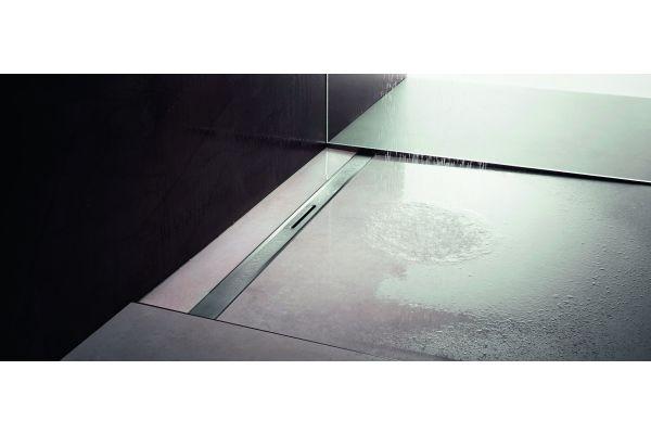 """Mit der Duschrinne """"Advantix Cleviva"""" hat Viega eine Entwässerungsschiene in den Markt eingeführt, die sich optisch perfekt in das Fliesenbild integriert und minimalsten Reinigungsaufwand einfordert."""