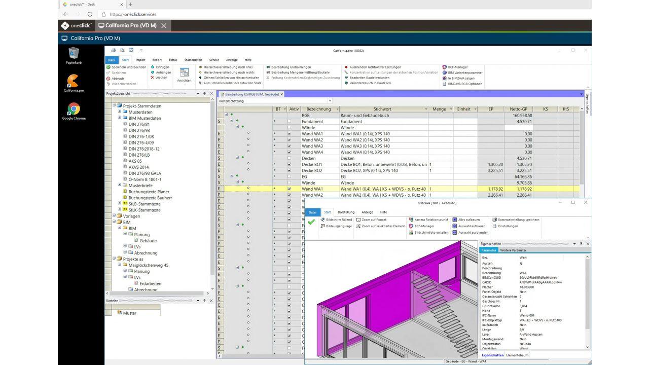 AVA- und Baukostenmanagementsystem California.pro jetzt in der Cloud