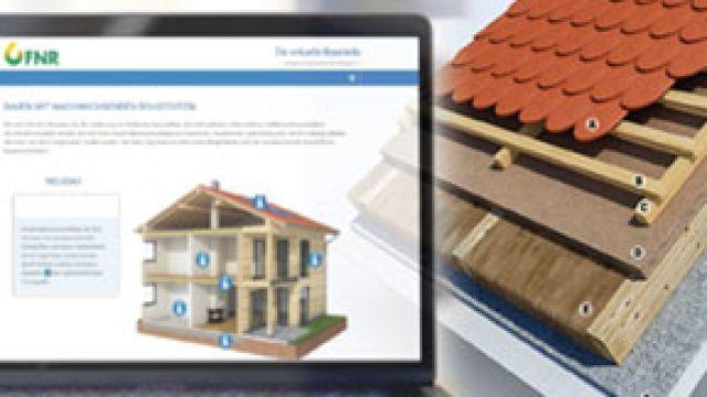 Screenshot der virtuellen Baustelle der FNR auf einem Laptop-Bildschirm.