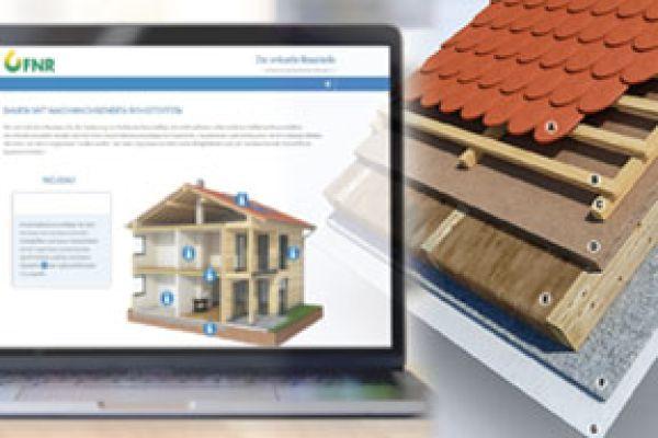 Virtuelle Baustelle zeigt Einsatzmöglichkeiten für nachwachsende Bau- und Dämmstoffe