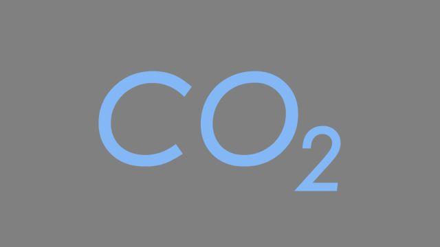 Das Bild zeigt die chemische Formel CO2.
