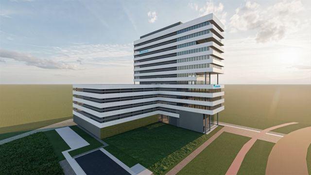 Modell des EMEA Development Centers von Daikin in Genf.