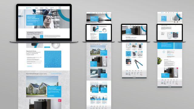 Das Bild zeigt Endgeräte mit dem neuen Web-Design.