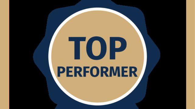"""Das Bild zeigt das Siegel """"Top Performer"""" von Open Datacheck."""