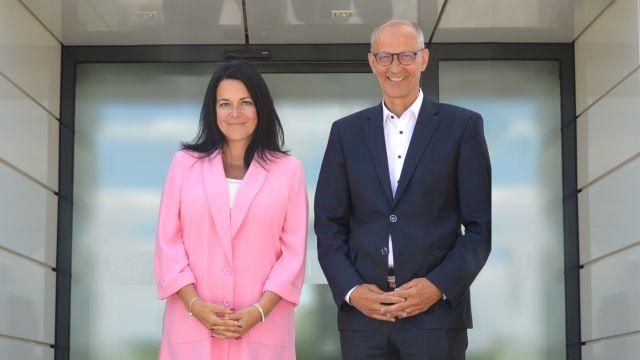 Das Bild zeigt Patricia Montalti und Guntram Wildermuth-Reißer.