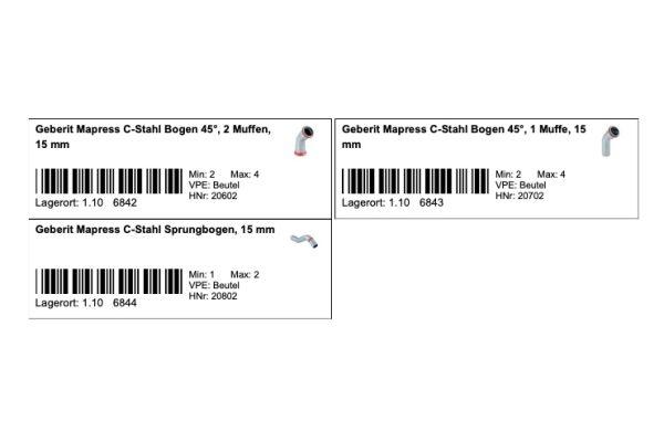 Beispiel für Bestellkarten