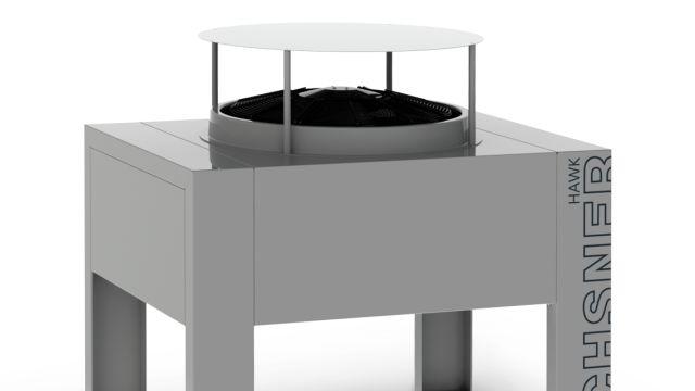 Das Bild zeigt die Luft/Wasser-Wärmepumpe